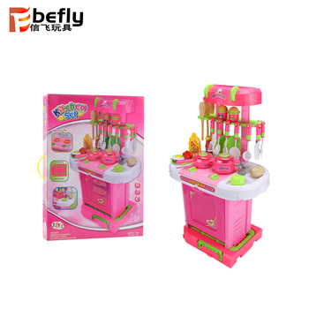 Promotional children kitchen set toy cooking games for girls