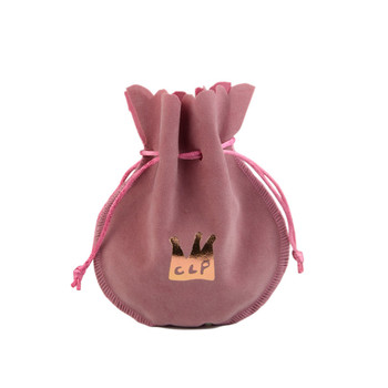 jewelry gift cosmetic custom pouch velvet drawstring bags