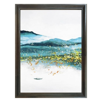 Dafen Paintings For Living Room Wall Abstract Oil Painting Hand Painted Landscape Gold Leaf Canvas Art