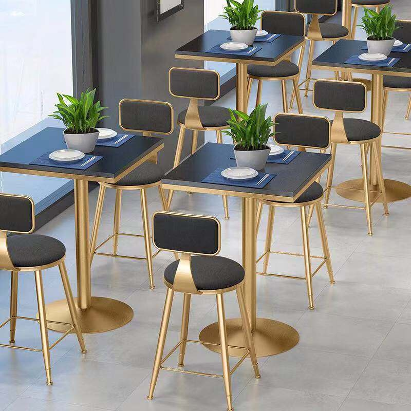 restaurant dining set marble table top stainless steel base fast delivery OPTIONAL marble color
