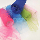 100% Polyester Tulle Roll Decoration Wedding Dress Fabric Soft Tulle