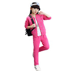 style antumn sport casual flower printed child girl boutique clothing set 3 pieaces Tshirt coat and pants