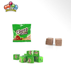 hot sale square shape chocolate flavor press candy