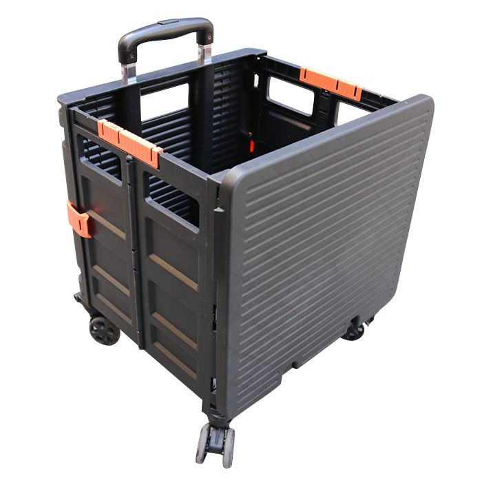 New design folding grocery shopping cart  collapsible four whee dolly for sale