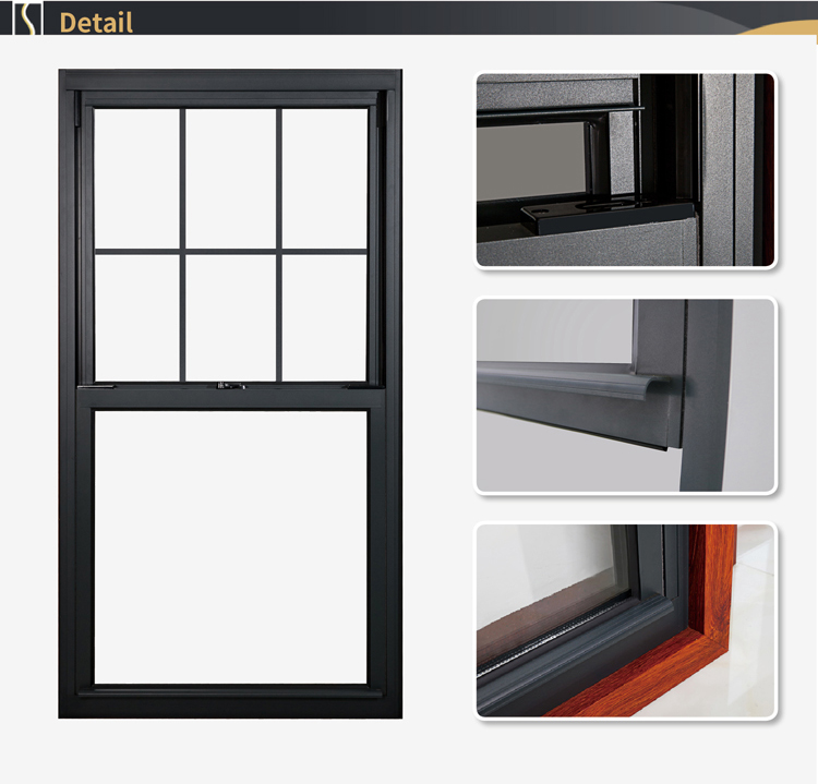 European Style Double Window Vs Single Hung Made In China