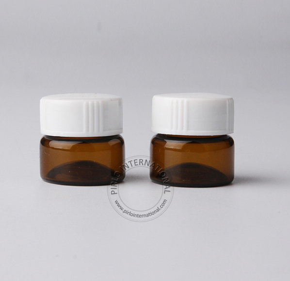 5ml mini  glass bottle with white screw cap Perfume Test Bottle
