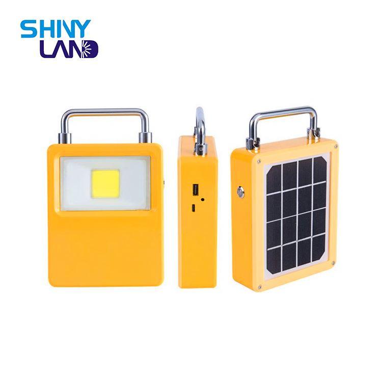 Ludage Farolas solares de la iluminaci/ón de emergencia port/átil de carga l/ámpara tienda de camping