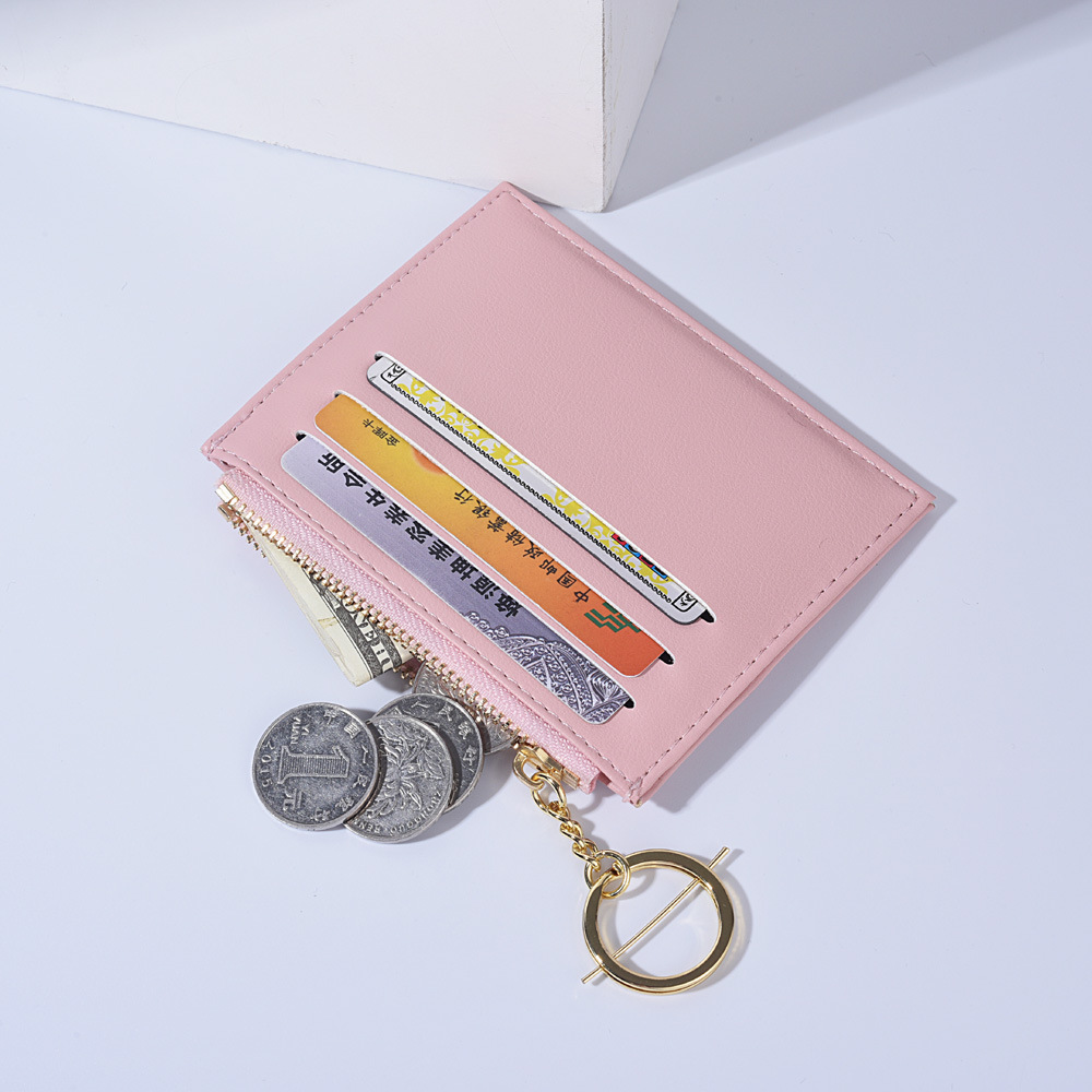 classic Wholesale new style credit card holder mini wallet pu leather coin purse for ladies