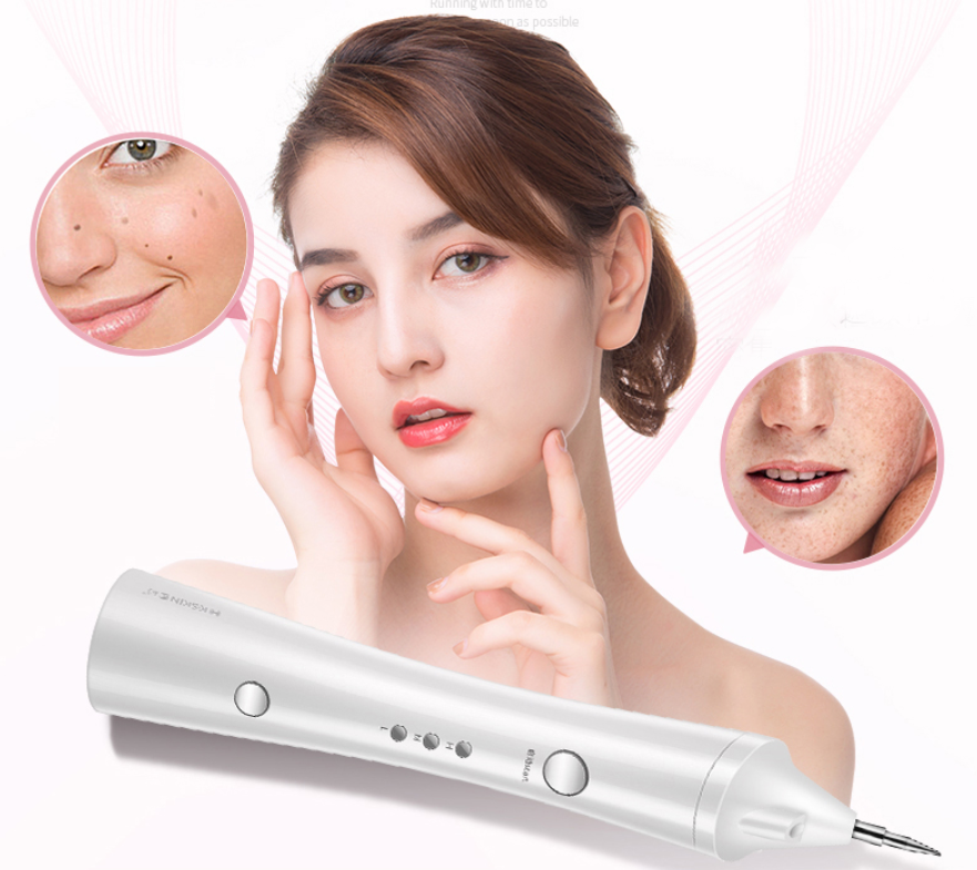 Portable Skin Tag Mole Remover Pen, Home use Face Black Spot Remover Machine With LED Spotlight