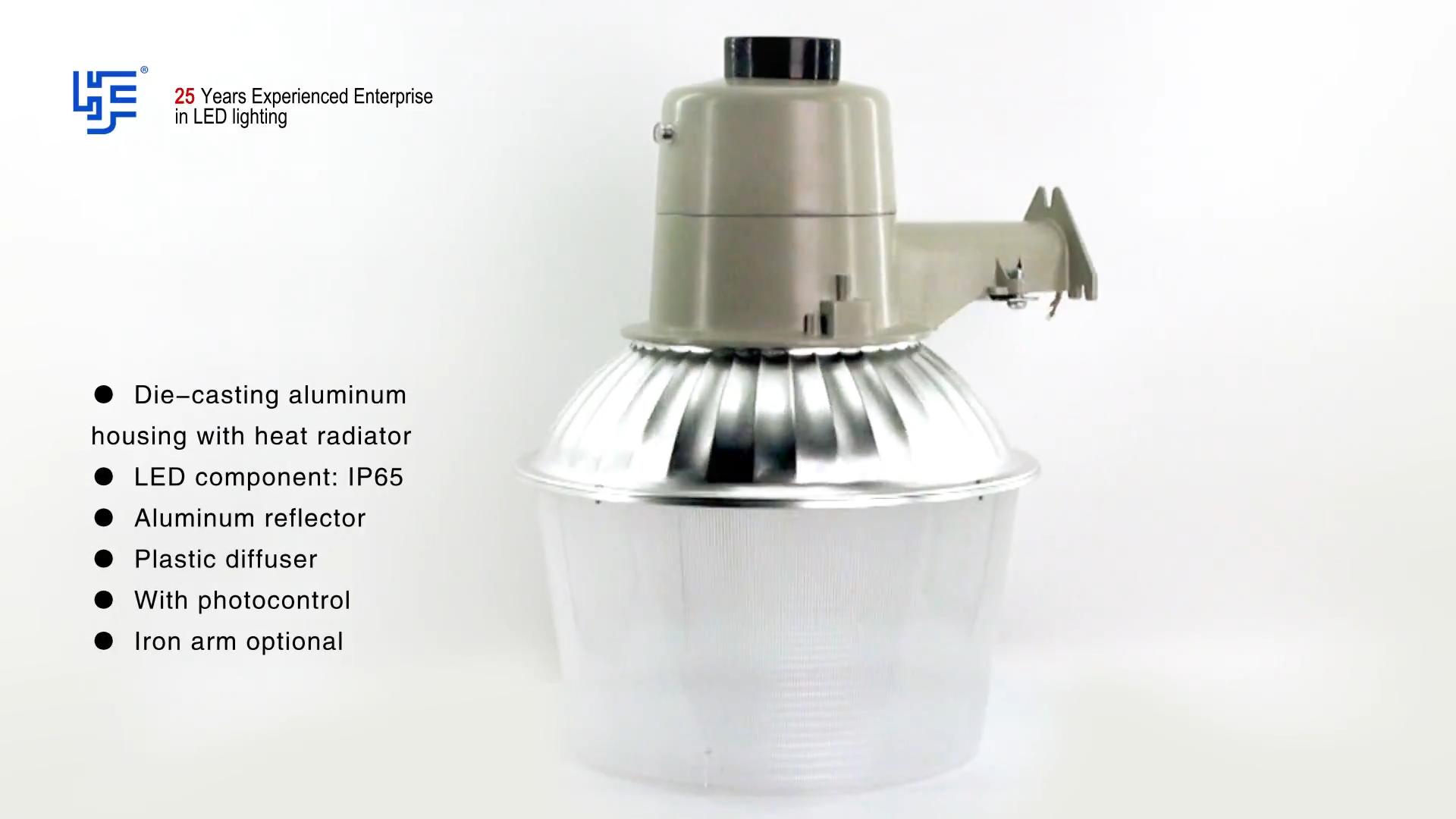 Factory Direct Sales Aluminum Housing LED Street Light 30W 50W Dusk to Dawn  Barn Light