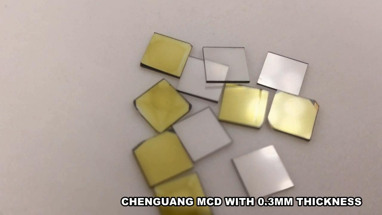 3*3*0.3 MCD lab grown diamond synthetic diamond  HPHT diamond plate