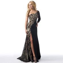 Женское вечернее платье с асимметричным вырезом, длинное кружевное платье для подружки невесты, вечернее платье для выпускного вечера, 38 #(Китай)