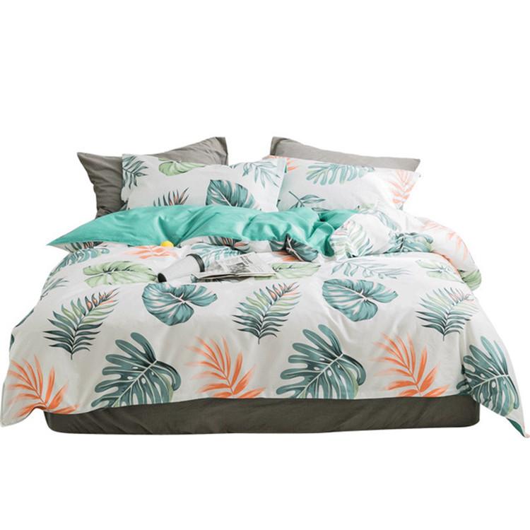 ホット販売綿 100% 美しい印刷スタイルの家庭用寝具セット