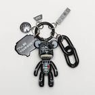 Promotion Plastic Key Plastic 2020 New Connecting Bag Charm Promotion Gift Bear 3 Inch Plastic Key Chain Popular Design Key Ring