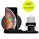 2019 10w Wireless Charger For Iphone XS XR XS Max 3 In 1 Wireless Charger Dock Station For Charging Stand