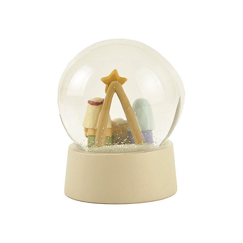 New design 65 mm polyresin snow globe Christmas gifts Holy family crafts