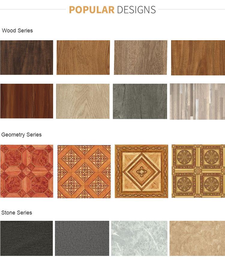 3.5mm-6.0mm Wood design rigid vinyl click Lock SPC Plastic Piso Flooring tile