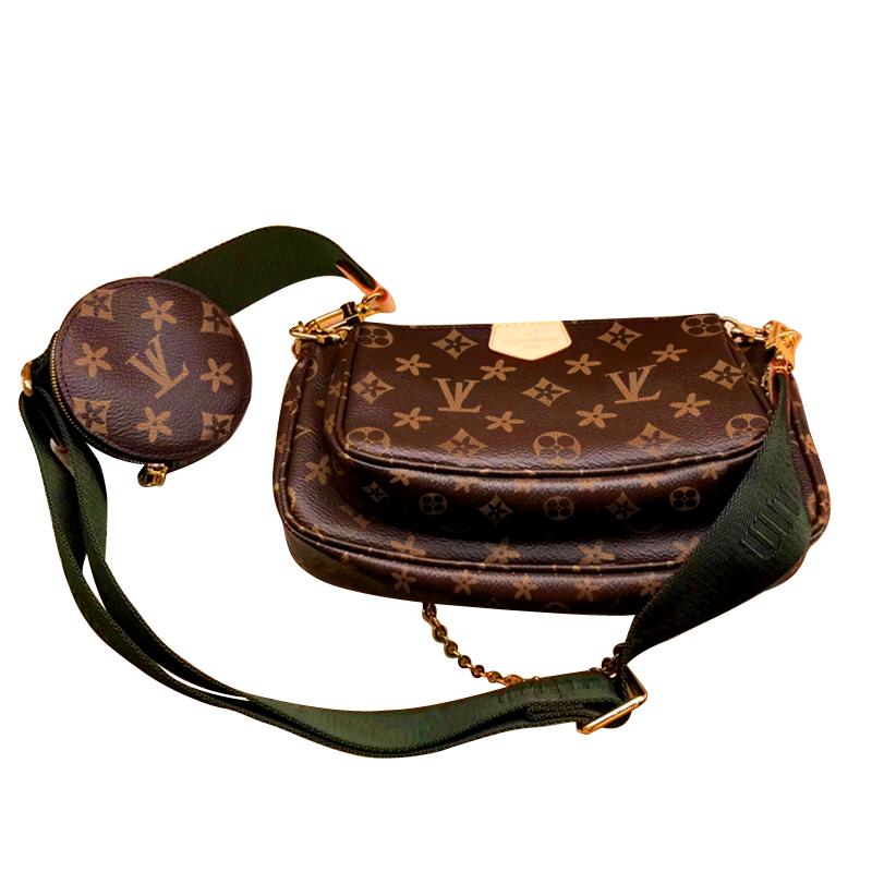 2020 New Model High Quality PVC Leather Lady Fashion Trendy Brand Mahjong Chain 3 Pieces Set Small Women Handbag