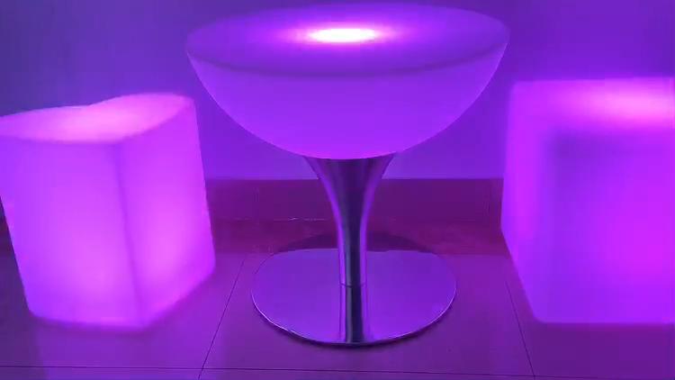 방수 IP54 빛나는 의자 현대 빛나는 바 의자