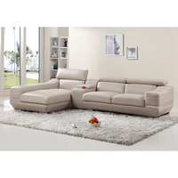 Factory Price Wholesale Purple Leather Restaurant Sectional Sofa