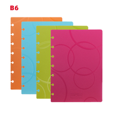 RINGNOTE B6 disc binden notebook cover pre-geponste gaten pp Foam cover vervanging bubble graan