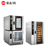 China bakery machinery 5 trays 8 trays convection combination oven combi oven with proofer