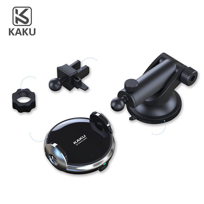 2018 qi magnetic stickup wireless charging charger 2-in-1 car phone mount with qi wireless charging
