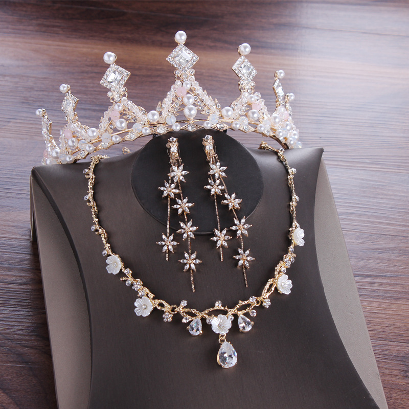 2020 New African Rhinestone Bridesmaid Jewelry Sets for Women Necklace and Earring Jewelry Set for Wedding