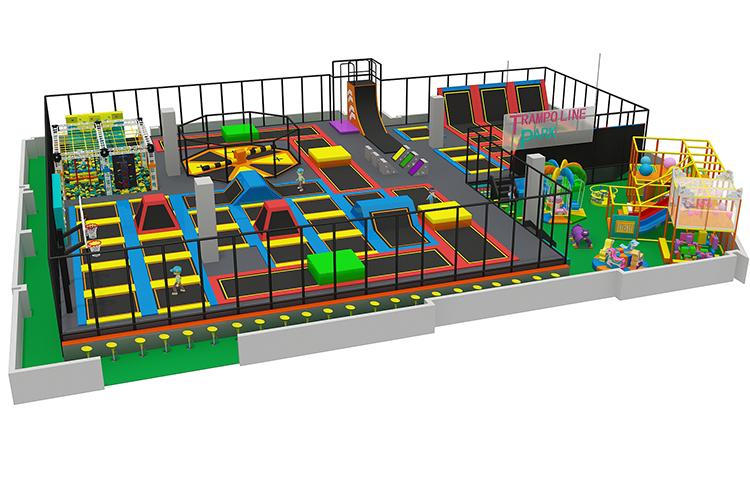 Grote Commerciële Kids Zone Indoor Speeltoestellen Trampoline Park