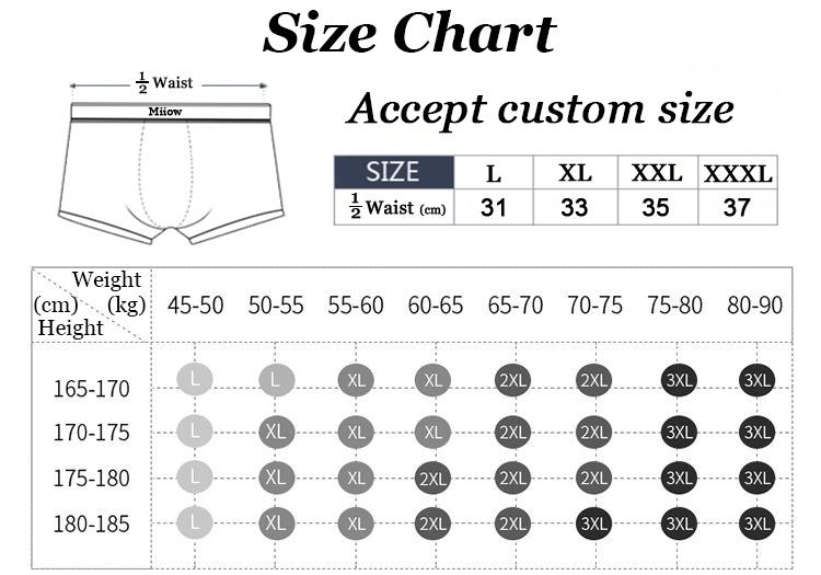 Miiow personalizzato di alta qualità di sesso maschile biancheria intima di cotone del pugile degli uomini