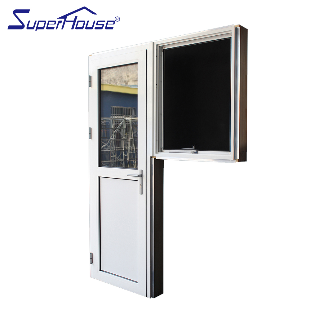 New design half glass aluminum hinge door half pinch plate french door