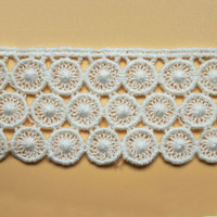 Cheap and High Quality Chemical Cotton Lace Trim Fancy Pattern Guipure Lace Fabric