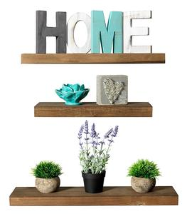 Rustic Farmhouse White Oak 3 Tier Floating Wood Shelf  Floating Wall Shelves (Set of 3), Hardware and Fasteners Included