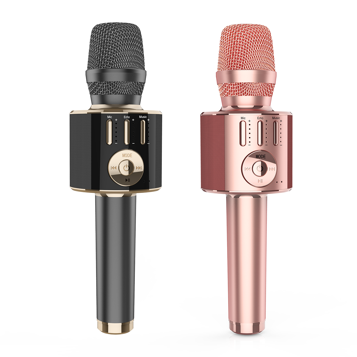 Gainstrong 7W 1800mAh handheld microphone karaoke support microphone karaoke wireless led and wireless bluetooth karaoke microph