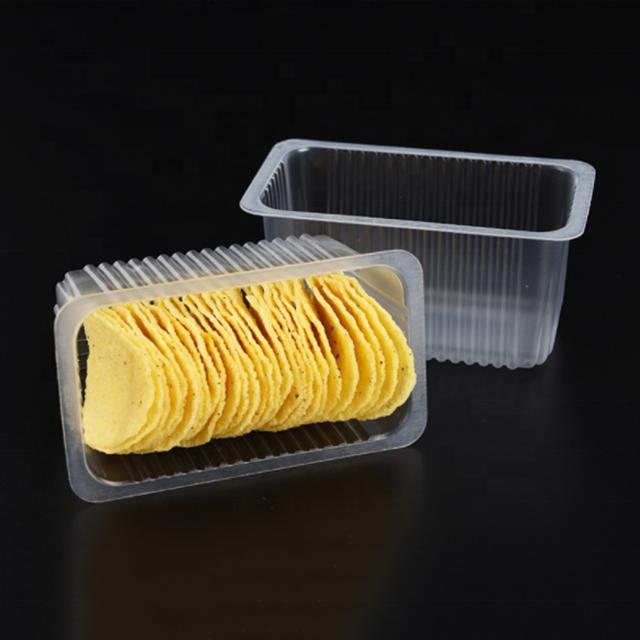 Personnalisé jetable Blister Transparent Biscuit Plateau En Plastique
