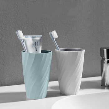 Simple thread double layer mouth wash cup home creative couple toothbrush cup