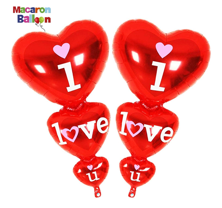I Love U Balloon Red Love Heart Balloons <strong>Valentine</strong> <strong>Day</strong> Decorations and <strong>Gift</strong> <strong>for</strong> <strong>Him</strong> or Her Wedding Birthday Decorations KK648