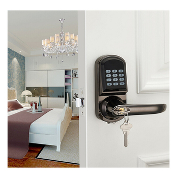 Electronic Mifare Card Passcode Security Combination Interior Digital Lever Door Lock