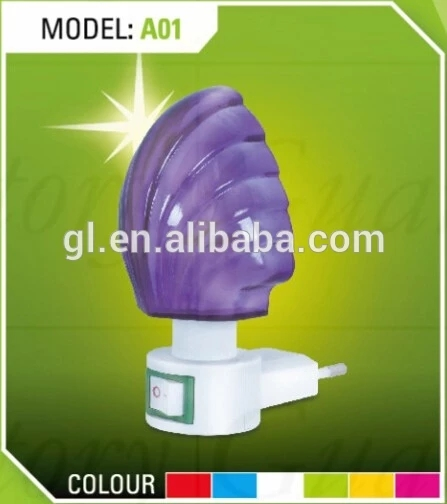 OEM A01 mini colorful Sea shell switch nightlight CE ROSH approved HOT SALE promotional gift items