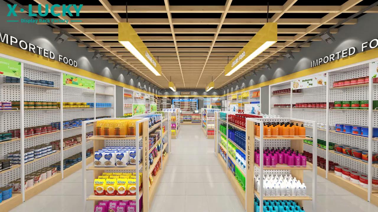High quality supermarket shelves Convenience Store shelf gondola shelving grocery store racks for shop mall grocery display rack