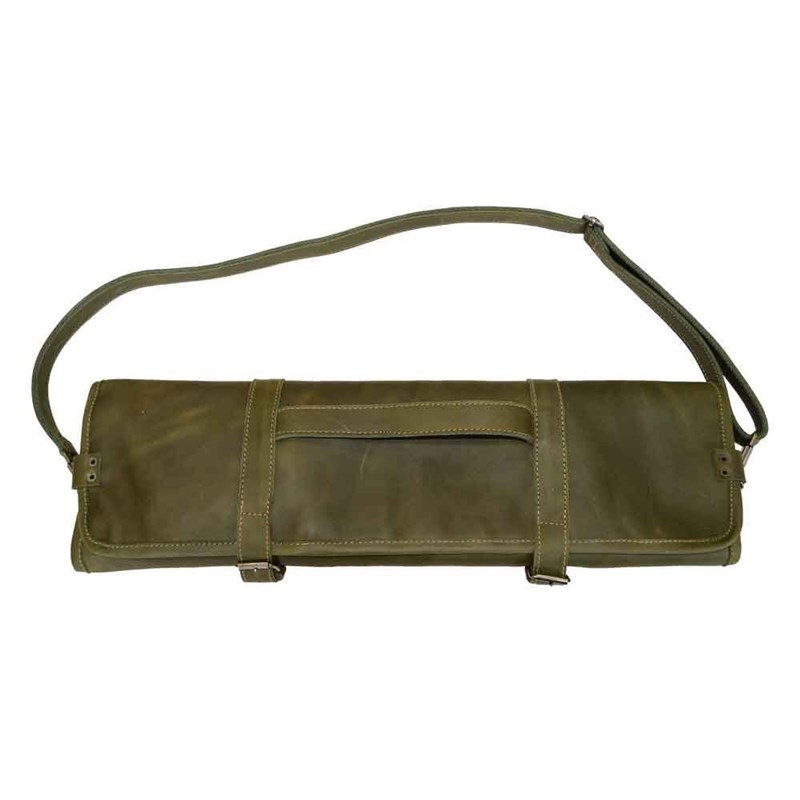 Genuine Leather Knife Roll Bag Chef