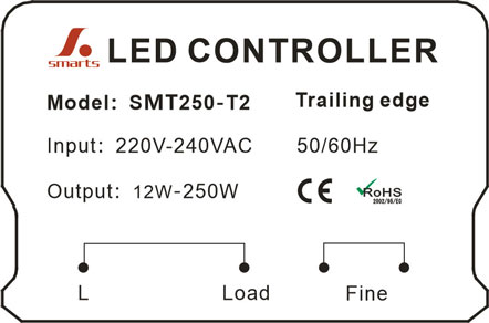 EU Standard triac Dimmer Led Light dimming Control Wall Dimmer Switch