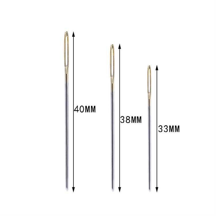 Wholesale ordinary embroidery needle gold tail cross stitch needle carbon steel embroidery needle