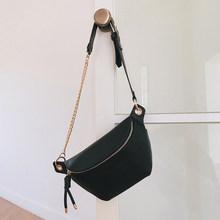 Поясная Сумка MABULA, Высококачественная водонепроницаемая сумка-мессенджер из кожи с цепочкой для путешествий и спорта, модная повседневная ...(Китай)