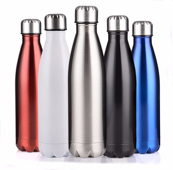 New Design sublimation stainless steel double wall vacuum flask water sipper cola bottle on sale