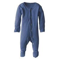 GOTS certified organic cotton baby pajamas footed overall