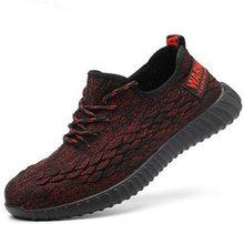 Мужская Модная и удобная рабочая обувь со стальным носком, Мужская защитная обувь с защитой от проколов, мужские кроссовки(Китай)