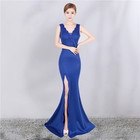 8220-1# women wedding dresses sexy woman deep V evening prom bridesmaid dress Long-style annual meeting dress