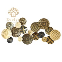 Luxury Baroque style metal wall hangings for living decor