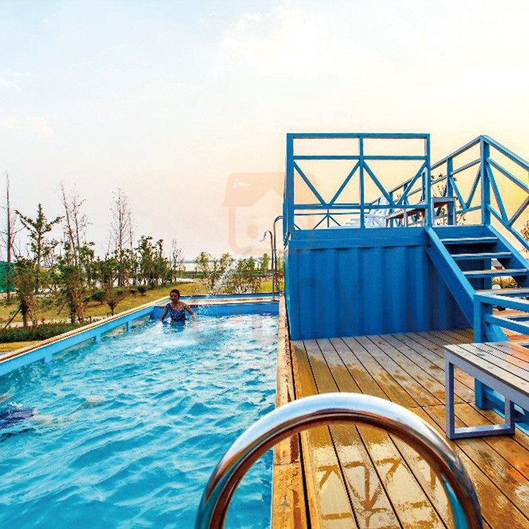 container swimming pool project